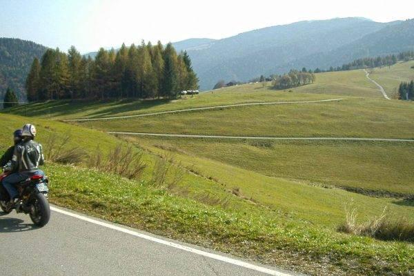 Trentino mit Motorrad